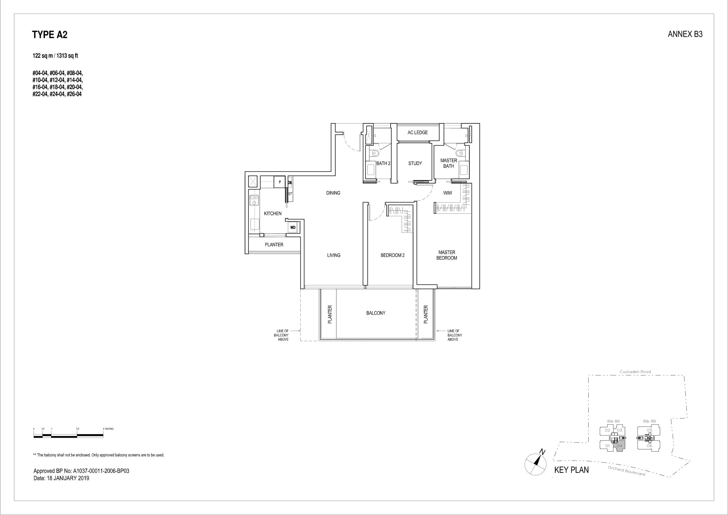 2 Bedroom + Study